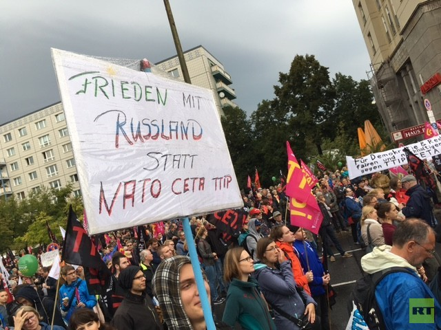 Hunderttausende gegen Freihandel: Deutschland demonstriert gegen TTIP und CETA