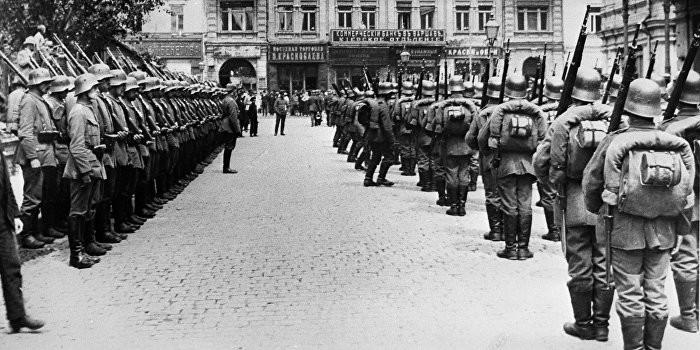 Deutsche Truppen in Kiew im Jahr 1918
