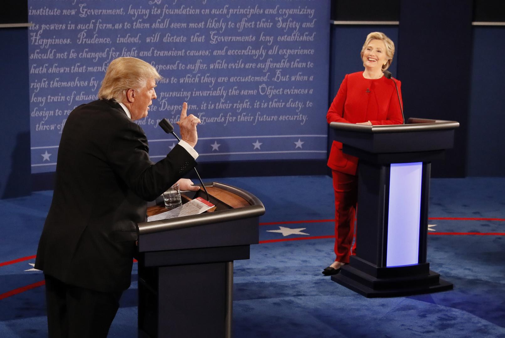 Erste TV-Debatte von Clinton und Trump endet im Unentschieden