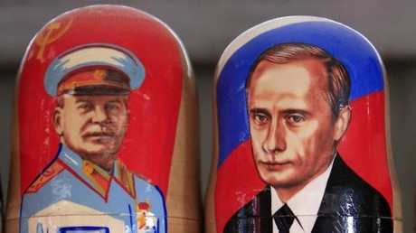 """Westliche Putin-Gegner, denen die Hitlervergleiche von """"Bild""""&Co. zu plump sind, versuchen den russischen Staatschef oft durch den Vergleich mit dem Sowjetführer Josef Stalin zu dämonisieren. Auch dies ist jedoch irrwitzig, wie unser Autor nachweist."""