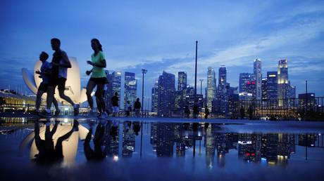 Straßenszene in Singapur