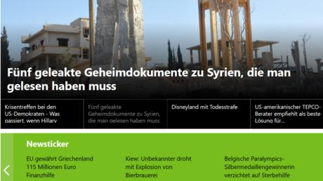 Künftig unter unseren neuesten Meldungen und Empfehlungen: der RT Deutsch Newsticker