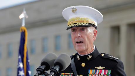 US-Generalstabschef Joseph Dunford stand am Donnerstag dem Militärausschuss des Senats Rede und Antwort.