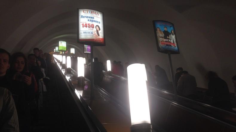 Die Fahrt auf der Rolltreppe der St. Petersburger U-Bahn dauert mehrere Minuten. Foto: Danilo Flores.