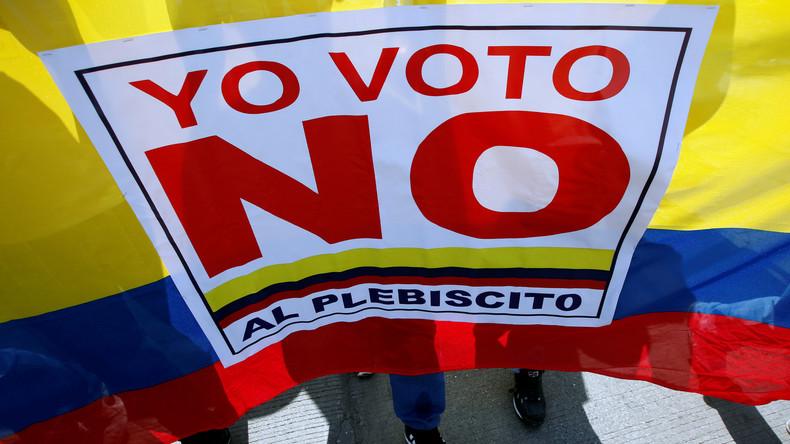 Kolumbianer entscheiden sich in Referendum gegen Friedensabkommen mit FARC-Rebellen