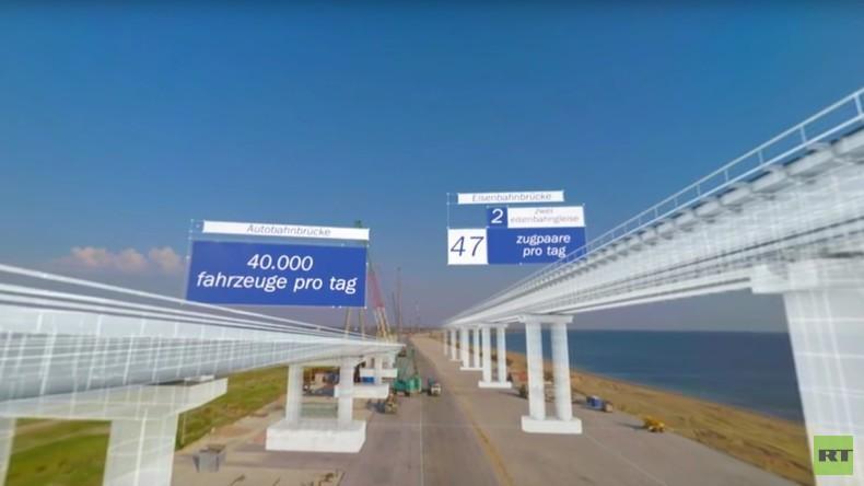 """""""Wir verbinden Ufer"""": So wird die Krim-Brücke aussehen"""