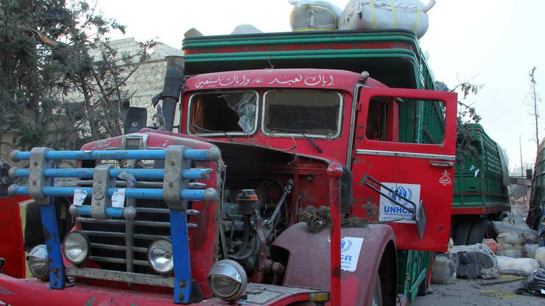 Bericht: Angriff auf Hilfskonvoi der UN war Inszenierung
