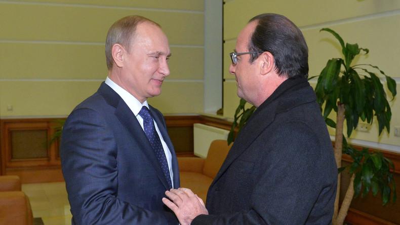 Putin sagt Treffen mit französischem Präsidenten Hollande in Paris ab