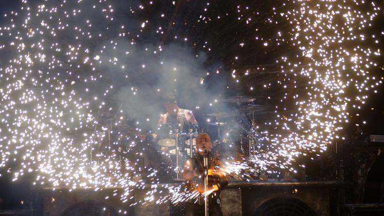 Rammstein beim Rockfestival im russischen Samara