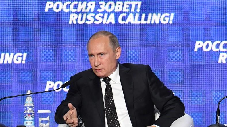 """Wladimir Putin: """"Es stimmt nicht, dass die Sanktionen keine Wirkung auf uns haben"""""""