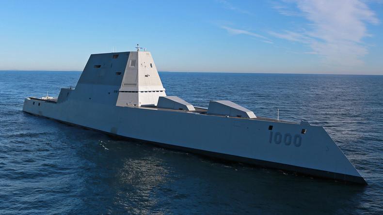 """US-Marine nimmt modernsten Raketenzerstörer """"Zumwalt"""" in Betrieb"""