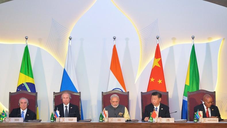 BRICS-Gipfel in Indien: Wladimir Putin will die BRICS-Wirtschaften einander näher bringen