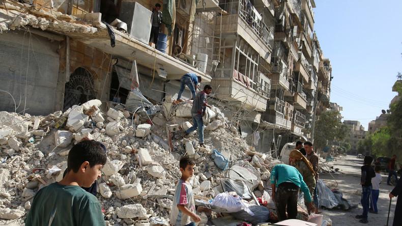 Leben mit dem Terror: In Aleppo zerstören Granaten das Leben und die Häuser