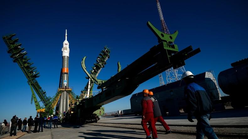 Live: Pressekonferenz zur aktuellen ISS-Mission vor dem geplanten Start in Baikonur