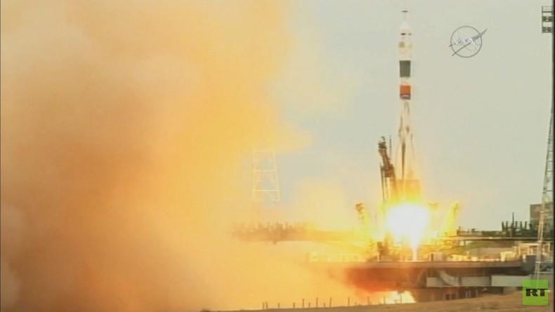 Kasachstan: Start der Mission Sojus MS-02 vom Kosmodrom Baikonur