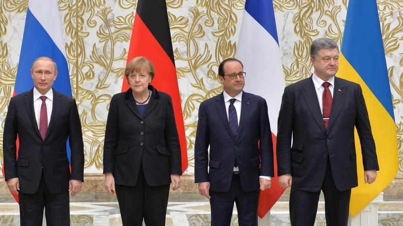 Live: Beginn des Normandie-Vier-Treffens in Berlin