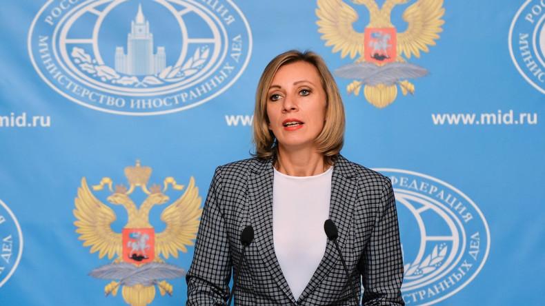 Live: Maria Sacharowa in der Pressekonferenz des russischen Außenministeriums