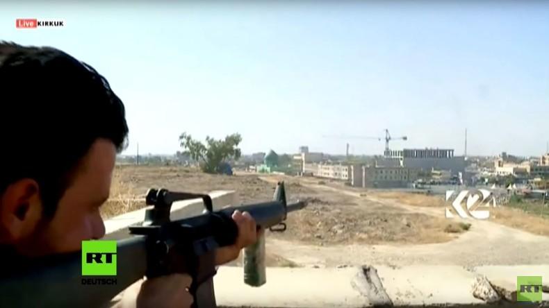 Irak: Kurdische Truppen bekämpfen den IS in Kirkuk
