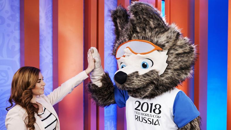 Wolf der Torschütze wird zum Maskottchen der Fußball-WM 2018 in Russland