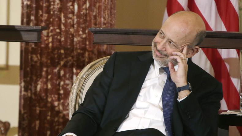 """Nun auch öffentliche Unterstützung: """"Goldman Sachs""""-CEO Lloyd Blankfein wünscht sich Hillary Clinton im Weißen Haus."""