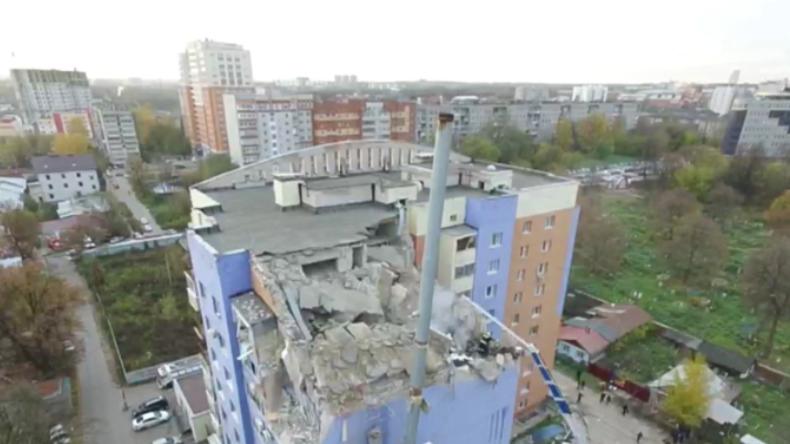 Russland: Massive Gasexplosion reißt Obergeschosse von Wohnblock weg