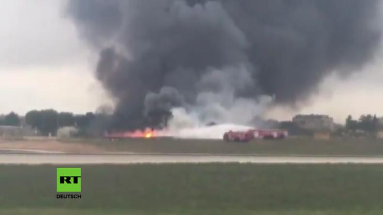 Flugzeugabsturz am Flughafen auf Malta: Alle Passagiere tot