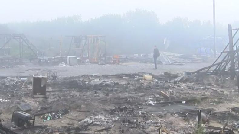 Live aus Calais nach schwerem Brand im Flüchtlingscamp