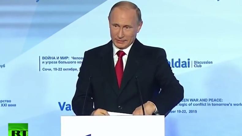 Live: Putin hält Ansprache bei Jahrestagung des Waldai-Clubs [deutsche Übersetzung]