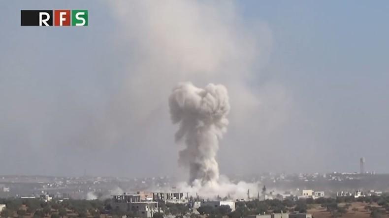 """Russisches Außenministerium: """"Das ist eine Lüge. Wir haben die Schule in Idlib nicht angegriffen"""""""