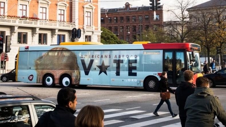 Kopenhagen: Mit Anti-Trump-Bus ins Wahllokal