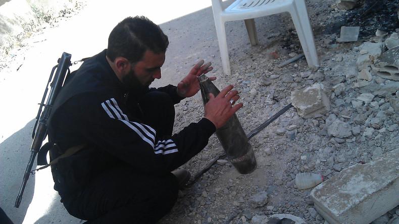 Ein Kämpfer der sogenannten Freien Syrischen Armee.