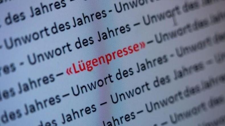 """Schaffte es sogar zum """"Unwort des Jahres"""" - Am Begriff Lügenpresse scheiden sich die Geister. Quelle: Screenshot DRK"""