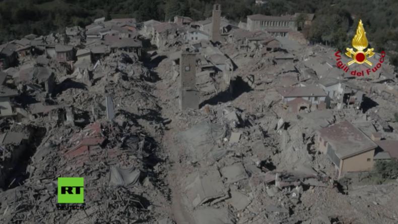"""""""Schwerstes Erdbeben in Italien seit über 35 Jahren"""" – Amatrice nur noch ein Schutthaufen"""