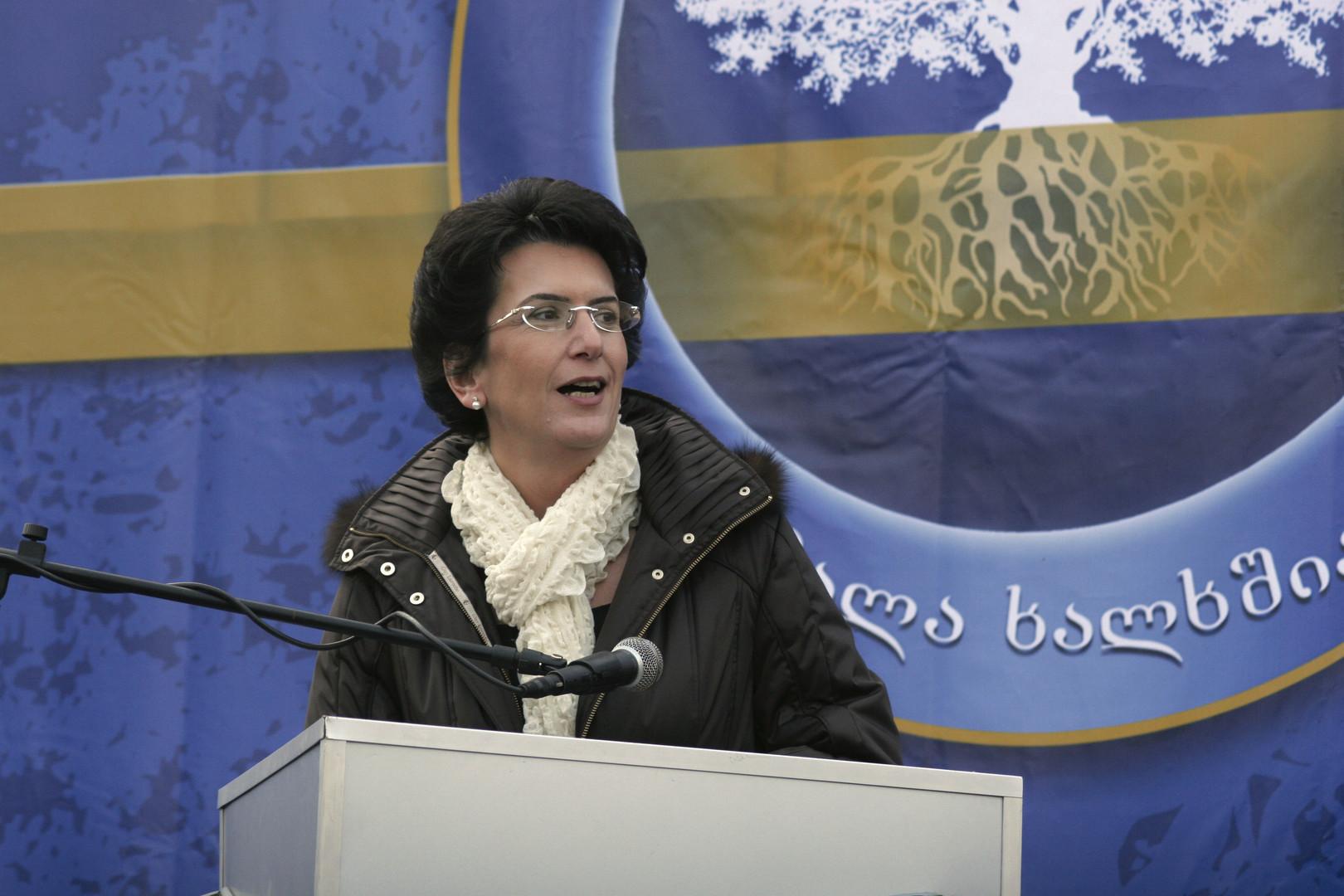 Die Oppositionspolitikerin Nino Burdschanadse.