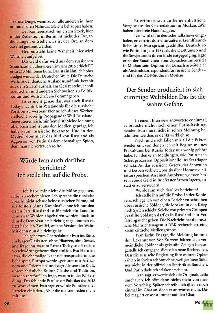 Ein Maulwurf bei RT Deutsch: NEON-Journalist spionierte die Redaktion aus