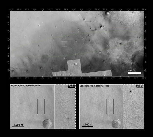 "Mars: Abgestürztes Landemodul ""Schiaparelli"" entdeckt"