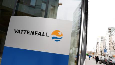 Vattenfall-Logo am Hauptsitz in Stockholm
