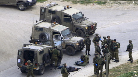 Symbolbild, IDF-Soldaten in Nablus, besetztes Westjordanland.