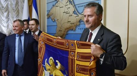 Der Präsident des Regionalrates der norditalienischen Region Venetien, Roberto Ciambetti, besucht die Schwarzmeer-Halbinsel Krim