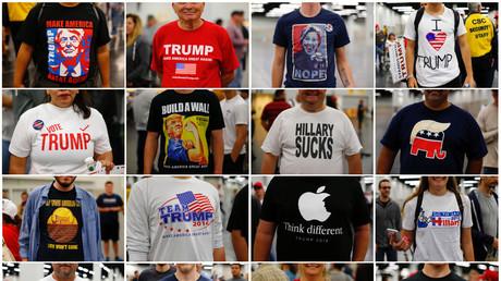 T-Shirt zeigt Farbe: US-Wahlkampf färbt auf Mode ab