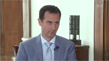 Präsident Bashar al-Assad im Interview des SRF.