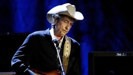 Bob Dylan während eines Konzerts im Wiltern Theatre, Los Angeles, Mai 2004.