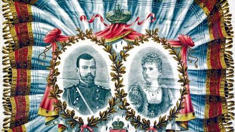 Zar Nicolaus II mit Gemahlin Prinzessin Alix von Hessen