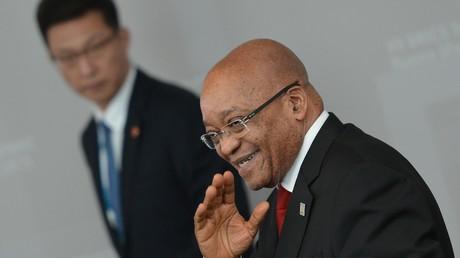 Der Präsident der Republik Südafrika, Jacob Zuma, während eines Treffens der BRICS Staatsoberhäupter in Ufa, Russland, September 2015.