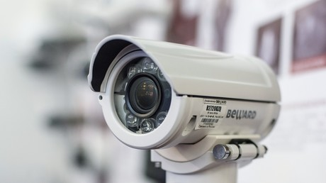 Ein Videoüberwachungssystem während des 20ten Internationalen Forums