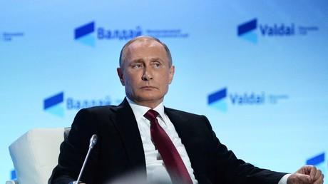 Putin auf der Abschlusskonferenz beim Waldai-Club, am 27. Oktober 2016 in Sotschi