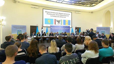 Drei ukrainische Gebiete fordern Autonomie