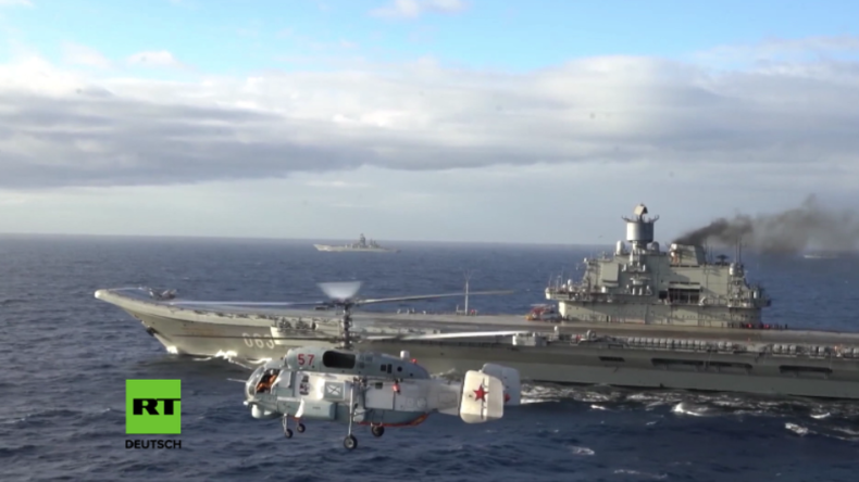 Kampf gegen Terror in Syrien: Russische Flugzeugträger-Kampfgruppe im Westen unerwünscht