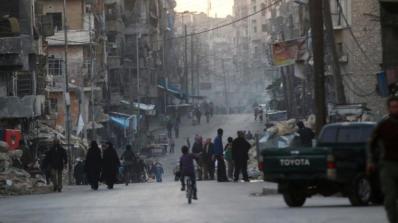 Aleppo: Russische Militärexperten entnehmen Proben im Gebiet des C-Waffen-Einsatzes