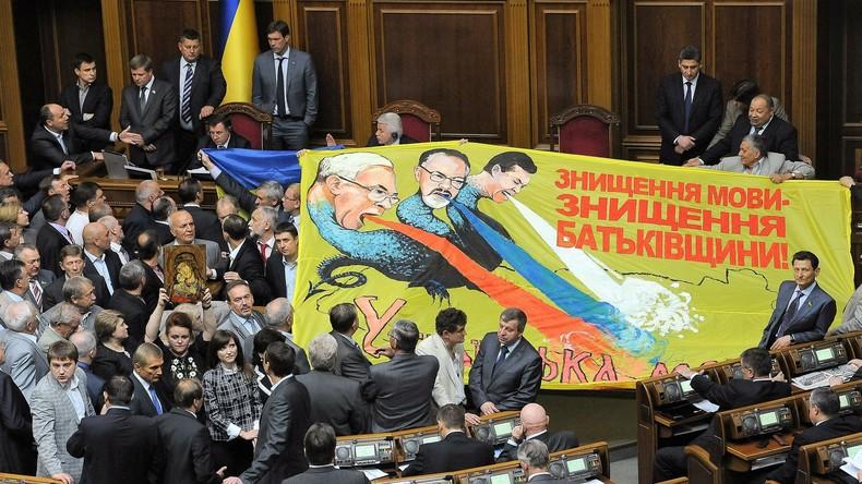 Drakonisches Gesetz in der Ukraine geplant - Russische Sprache wird aus Medien gedrängt